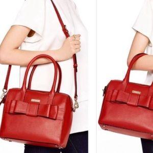 Late Spade Red Bow handbag